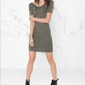 Other Stories Ribbed Lurex Dress Size XS